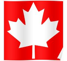Canada Maple Leaf Flag Emblem Poster