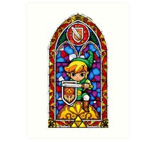 LoZ Shield Stained Glass Art Print