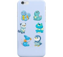 Pokemon Starters - Water Types iPhone Case/Skin
