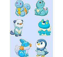 Pokemon Starters - Water Types Photographic Print
