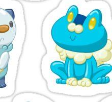 Pokemon Starters - Water Types Sticker