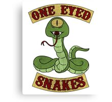One Eyed Snakes t shirt Canvas Print
