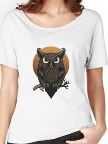Owl - Fullmoon Ooo  Women's Relaxed Fit T-Shirt