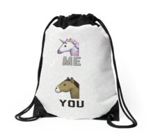 Unicorn You vS Me Drawstring Bag