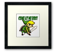 come at me brooo !!! Framed Print