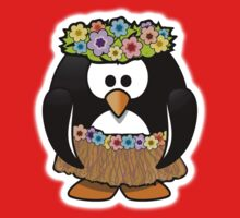 Penguin, Hula, Hawaiian, Hawaii, Cartoon,  Kids Tee