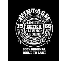 50th Birthday 50 Years Old 1966 Gift Idea Vintage Tee Shirt Photographic Print