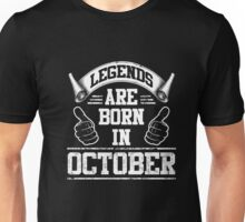 Legends Are Born In October Gifts Funny Adult T Shirts Unisex T-Shirt