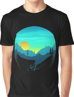 Pine Hills By The Mountains Sunrise Graphic T-Shirt