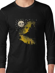 Sweet n' Spooky Vintage Style Halloween Moon, Witch T- Shirt Long Sleeve T-Shirt