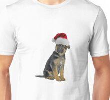 Germany Shepherd Puppy Santa Claus Merry Christmas Unisex T-Shirt