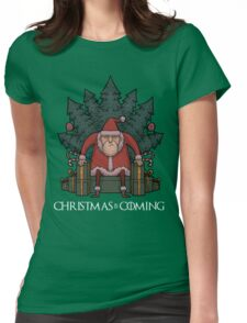 Santa Of Thrones - Christmas Is Coming Womens Fitted T-Shirt