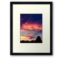 Suburban evening  Framed Print