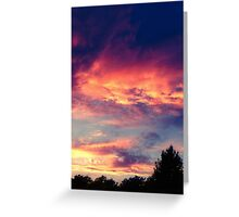 Suburban evening  Greeting Card