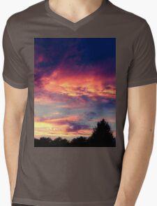 Suburban evening  Mens V-Neck T-Shirt