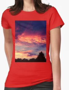 Suburban evening  Womens Fitted T-Shirt