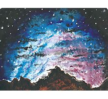 Mountain Starry Sky Photographic Print