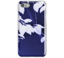 Leaves on dark blue iPhone Case/Skin