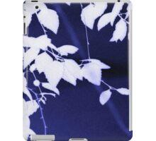 Leaves on dark blue iPad Case/Skin