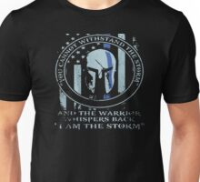 Thin Blue Line American Flag/K9/POLICE: I AM THE STORM shirt Unisex T-Shirt