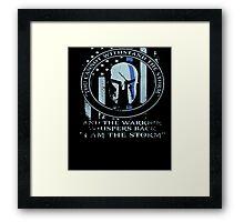 Thin Blue Line American Flag/K9/POLICE: I AM THE STORM shirt Framed Print