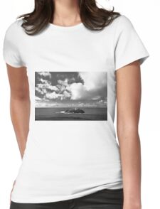 Clouds Over Godrevy Lighthouse Womens Fitted T-Shirt