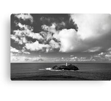 Clouds Over Godrevy Lighthouse Canvas Print