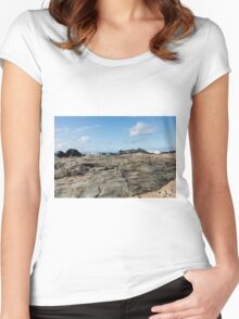 Godrevy Rocks Women's Fitted Scoop T-Shirt