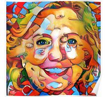 President Hillary Clinton Abstract Poster