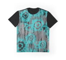 Tie Dye Neon Blue Circle Dreamy Gypsy for Boho Style Graphic T-Shirt