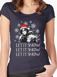 Let it snow - Christmas  Women's Fitted Scoop T-Shirt
