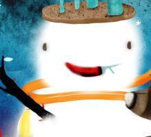 Aurora Australis Christmas Whimsical Stars Sticker