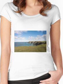 Godrevy to St Agnes, The North Cornwall Coastline Women's Fitted Scoop T-Shirt