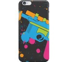 Han Solo Blaster Paint Splatter (Full Color) iPhone Case/Skin