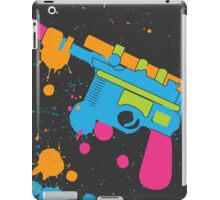 Han Solo Blaster Paint Splatter (Full Color) iPad Case/Skin