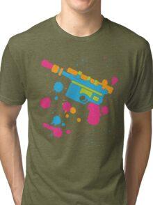 Han Solo Blaster Paint Splatter (Full Color) Tri-blend T-Shirt