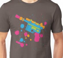 Han Solo Blaster Paint Splatter (Full Color) Unisex T-Shirt