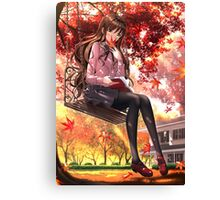 Lady In Swing Canvas Print