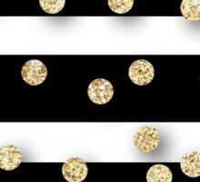 Random polka dots,glitter,glam,gold,stripes,black,white,modern,trendy,cute,girly,pattern,girly,preppy Sticker