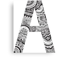 Henna Letters: A Canvas Print