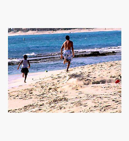 Kids On The Beach Photographic Print