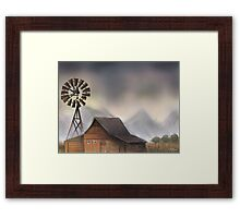 Old Barn-scroll down to view more of my work Framed Print