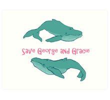 Star Trek: Save George and Gracie Art Print