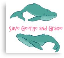 Star Trek: Save George and Gracie Canvas Print