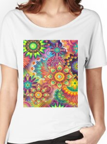 Flowers in abstract Women's Relaxed Fit T-Shirt
