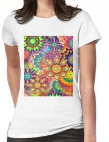 Flowers in abstract Womens Fitted T-Shirt