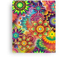 Flowers in abstract Canvas Print