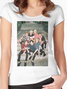 Cute BTS poster Women's Fitted Scoop T-Shirt