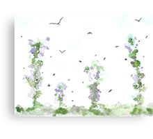 Birds and Bees, Summer Breeze Canvas Print