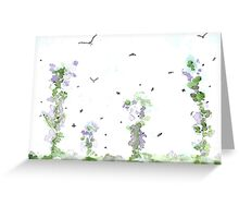 Birds and Bees, Summer Breeze Greeting Card
